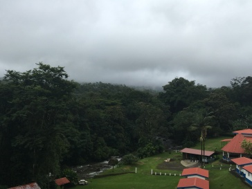 Most mornings in Arenal are quite cloudy this time of year
