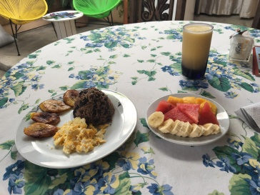 Gallo Pinto, Fruits and a Fresco